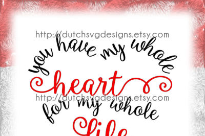 Text cutting file Heart, in Jpg Png SVG EPS, for Cricut & Silhouette