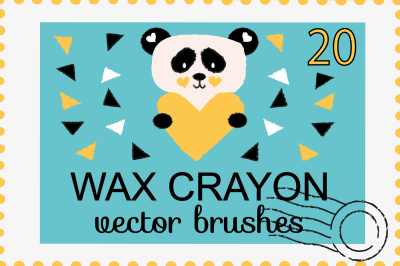 Wax Crayon Brushes for Adobe Illustrator