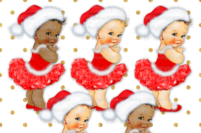 Little Ruffle Pants Christmas Ballerina Vintage Baby