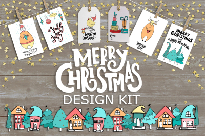 Merry Christmas kit + lettering.