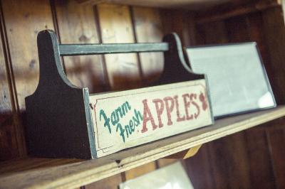 Vintage Apple Box On Shelf