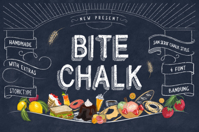 BiteChalk Typeface with Extras