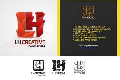 LH Letter Logo Template