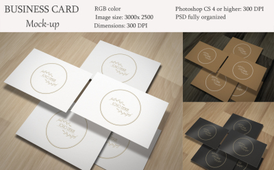 Business card mockup. Mini pack.