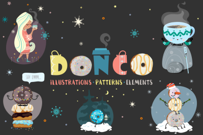 DONCO. Illustrations, Patterns and Elements.