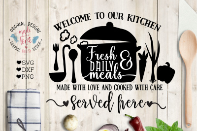 Welcome to Our Kitchen Cut File and Printable