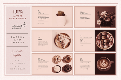 PASTRY & COFFEE Socialmedia Template