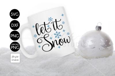 Let it SnowCHRISTMAS SVG File