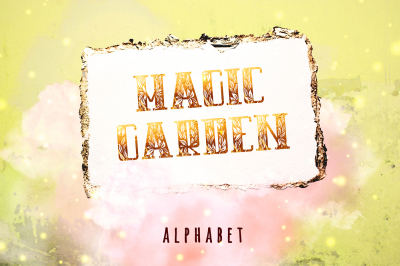 Initials Magic Garden