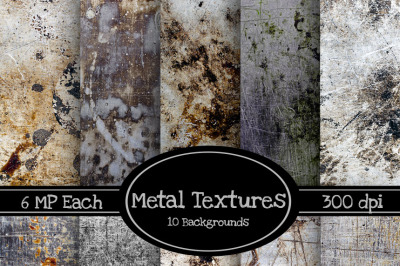 10 Pack of Metal Texture Backgrounds