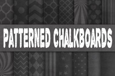 Patterned Chalkboard Textures Digital Paper