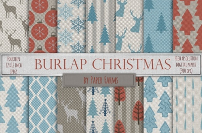 Christmas burlap