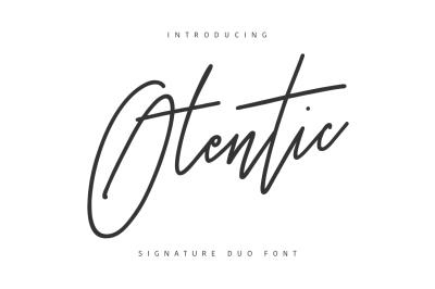 Otentic Signature Font