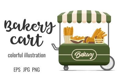 Bakery street food cart