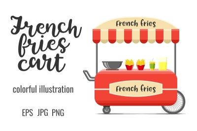 French fries street food cart