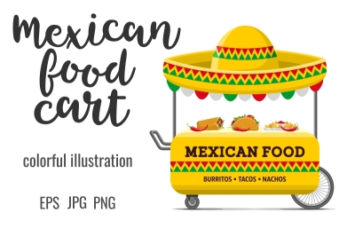Mexican food street cart