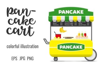 Pancake street food cart