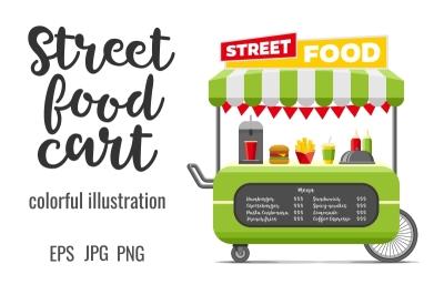 Fast food street cart