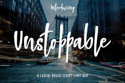 Unstoppable Font Duo
