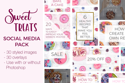 Social Media Pack - Sweet Treats