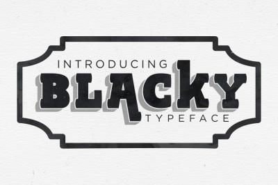 BLACKY TYPEFACE