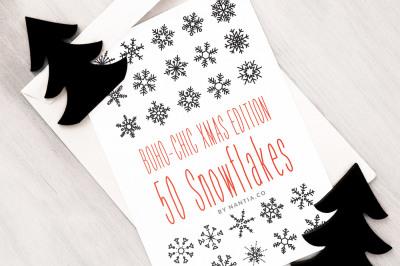 Boho-Chic Xmas Edition:50 Snowflakes