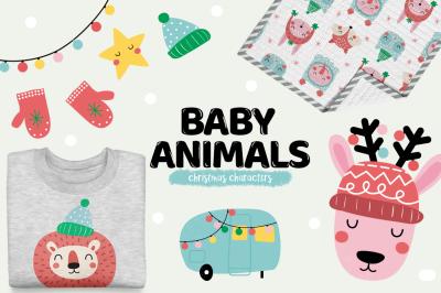 Baby animals - Christmas characters