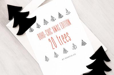 Boho-Chic Xmas Edition: 20 Xmas Trees