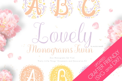 UPDATED - Lovely Monograms Twin