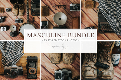 Masculine Styled Stock Photo Bundle