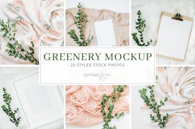 Greenery Mockup Stock Photo Bundle