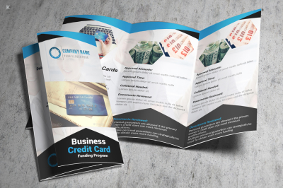 Business Credit Cards Trifold Template