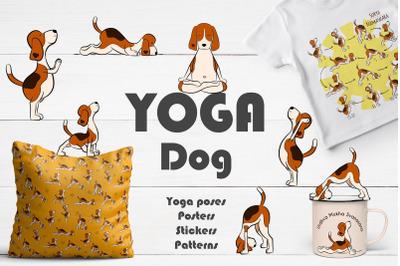 Set of Yoga Dog