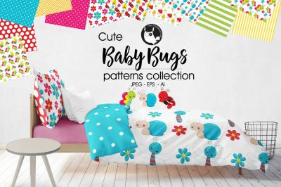 BABY BUGS Patterns collection, digital papers