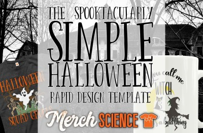 The Spooktacularly Simple Halloween Rapid T-shirt Design Template