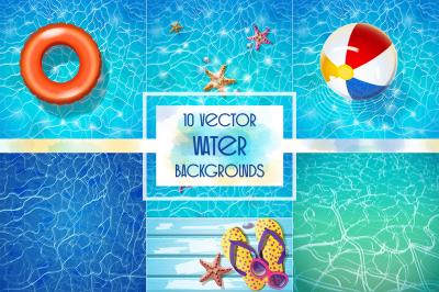 Vector water backgrounds