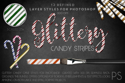 Glittery Candy Stripes