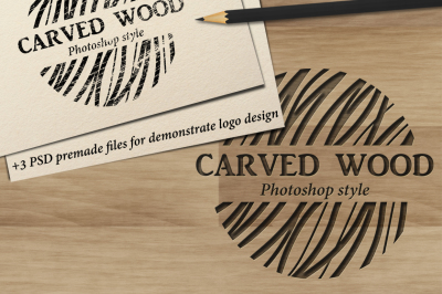 Carved wood layer style for Photoshop