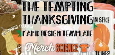 The Tempting Thanksgiving Rapid T-shirt Design Template