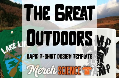 The Great Outdoors Rapid T-shirt Design Template