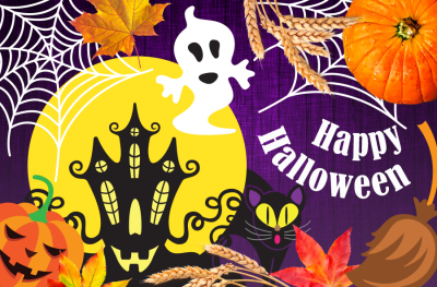 Happy Halloween! ClipArt Set, Patterns, Cards