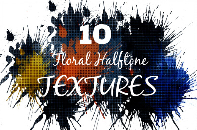 Floral Halftone Textures