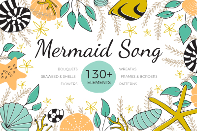 Mermaid Song - Big set of Sea clipart