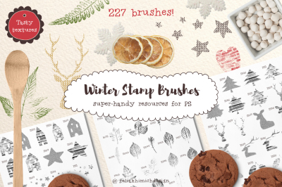 Winter Stamp Brushes for PS