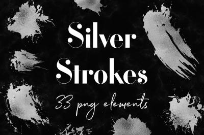 Silver Smear Clipart