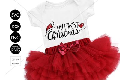 My First Christmas Cute CHRISTMAS SVG File Bundle