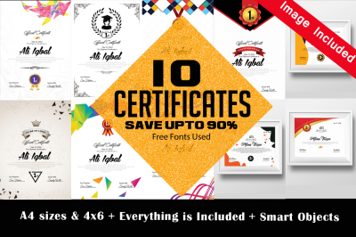 10 certificates & Diploma Bundle