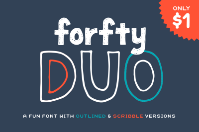 Forfty Mini Font Duo