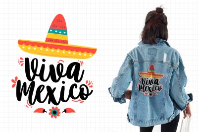Viva mexico illustration - patches