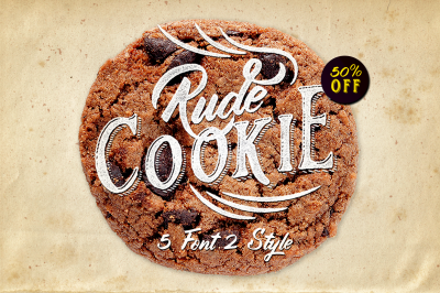 Rude Cookie Font Layer (50% off)